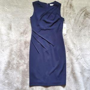 NWT Calvin Klein Navy Blue Dress